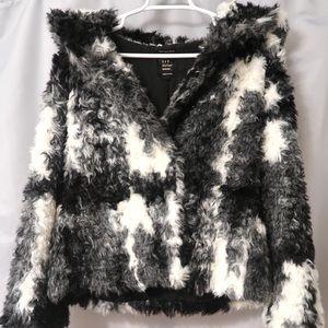 Zara's Faux Fur Coat With Hood